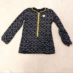 Juicy Couture Zip Blue and Gold Top - Size6